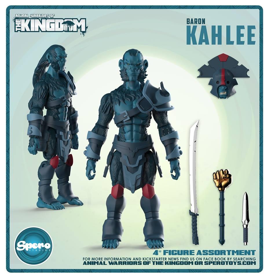 2019 Spero Animal Warriors of the Kingdom BARON KAHLEE V2 Action Figure MOC