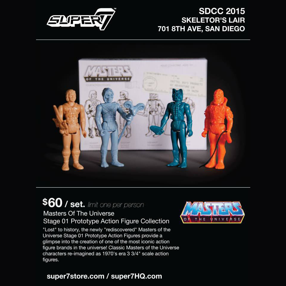 1:18 action figure archive Masterers of the universe reaction checklist
