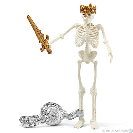 1:18 Archive Schleich World of Knights Skeleton