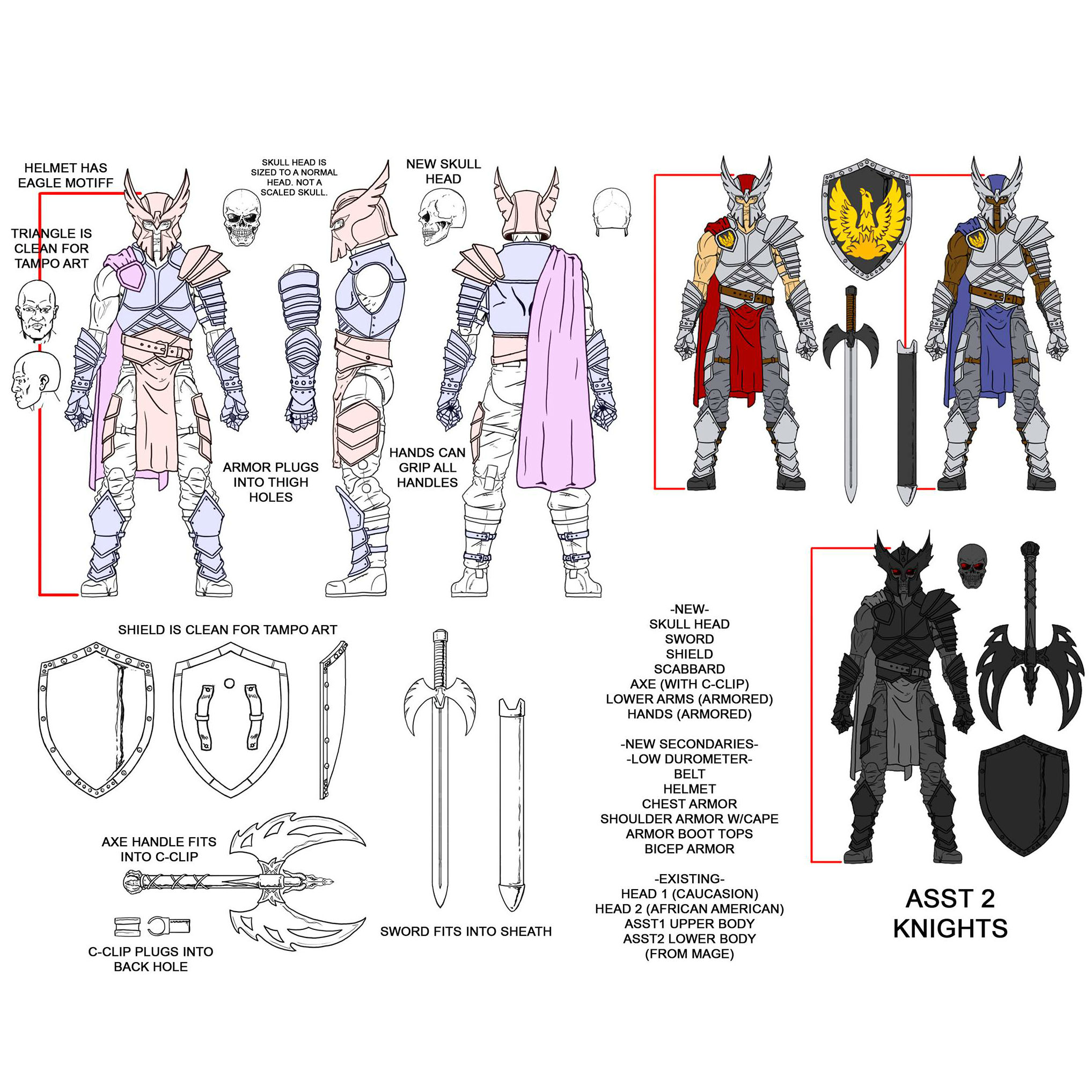 1:18 Vitruvian HACKS Checklist Human Knight action figure
