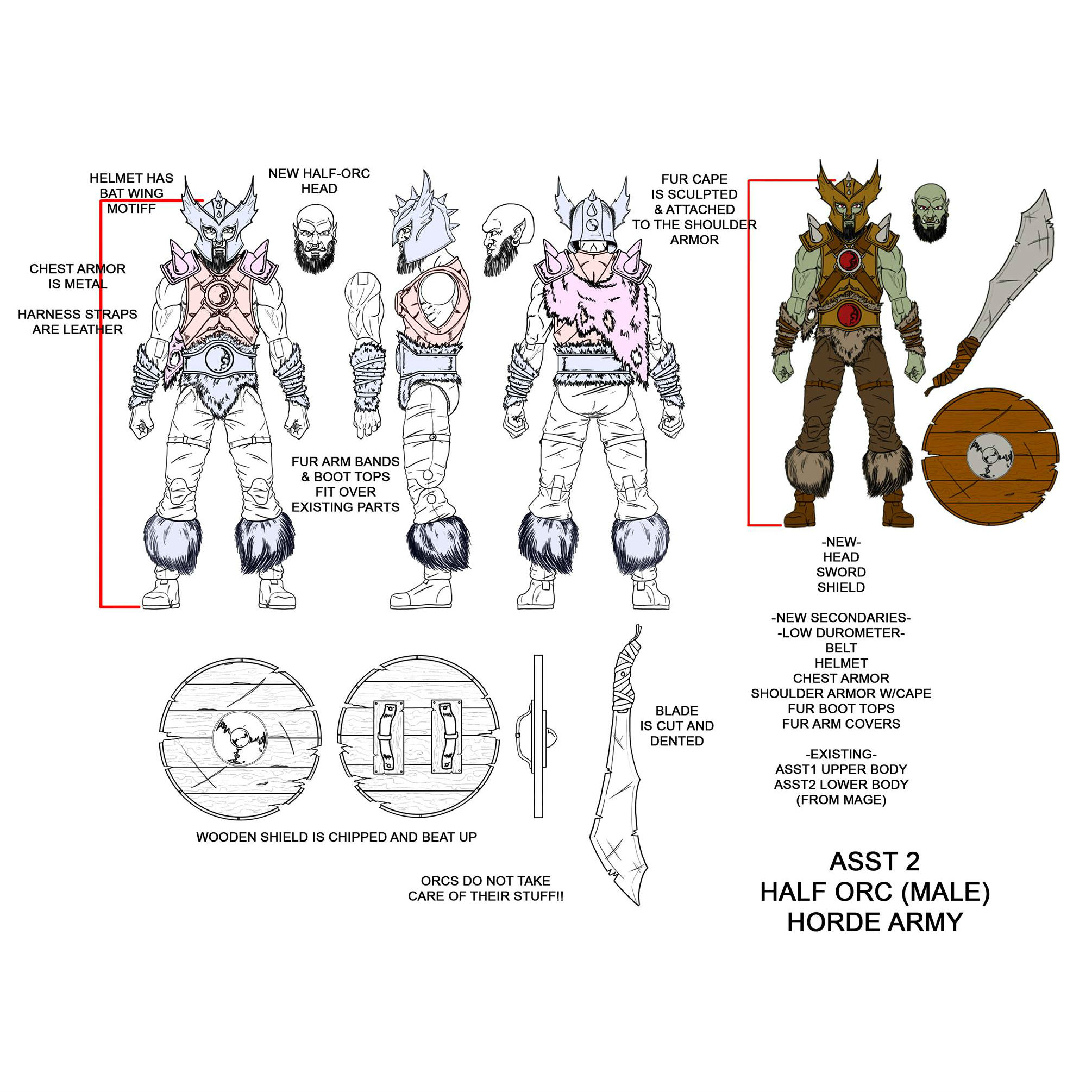 1:18 Action figure checklist vitruvian HACKS Orc Warrior